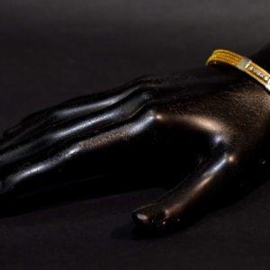 Bracelet en herbe dorée
